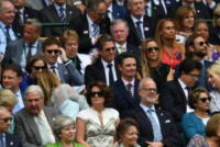 Hannah Bagshawe, Eddie Redmayne, Hugh Grant, Bradley Cooper - Londra - 16-07-2017 - Finale maschile di Wimbledon: gara di look sugli spalti
