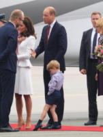 Princess Charlotte, Prince George, Principessa Charlotte Elizabeth Diana, Principe George, Catherine, Principe William, Kate Middleton - Varsavia - 17-07-2017 - Kate Middleton incinta per la terza volta