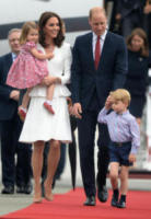 Principessa Charlotte Elizabeth Diana, Principe George, Principe William, Kate Middleton - Varsavia - 17-07-2017 - Kate Middleton incinta per la terza volta