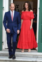 Principe William - Berlino - 19-07-2017 - Kate Middleton in rosso Alexander McQuenn a Berlino