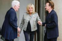 Brigitte Macron, Bono - Parigi - 24-07-2017 - Bono all'Eliseo: Brigitte Macron fa gli onori di casa