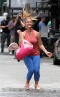 Gordon Schumer, Amy Schumer - Manhattan - 28-07-2017 - Amy Schumer sul set di I Feel Pretty con papà