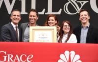Eric Garcetti, Eric McCormack, Sean Hayes, Megan Mullally, Debra Messing - Los Angeles - 02-08-2017 - Will & Grace: il revival riparte... con un bacio!
