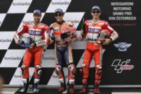 Marc Marquez, Andrea Dovizioso, Jorge Lorenzo - Spielberg - 12-08-2017 - MotoGp Austria: Marquez conquista la 70esima pole in carriera