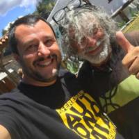 Mauro Corona, Matteo Salvini - Modena - 02-07-2017 - Salvini-Isoardi: antipasto di luna di miele sul Lago di Garda