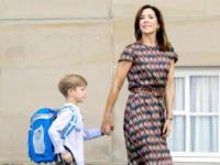 principe Vincent di Danimarca, Principessa Mary di Danimarca - Copenhagen - 15-08-2017 - Piccoli reali di Danimarca crescono: il primo giorno di scuola
