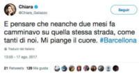 Chiara Galiazzo - Barcellona - 17-08-2017 - Attentato a Barcellona, il cordoglio delle star sui social