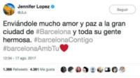 Jennifer Lopez - Barcellona - 17-08-2017 - Attentato a Barcellona, il cordoglio delle star sui social