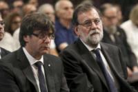 Carles Puigdemont i Casamajo, Mariano Rajoy - Barcellona - 20-08-2017 - Barcellona, i reali in visita ai feriti dell'attentato: le foto