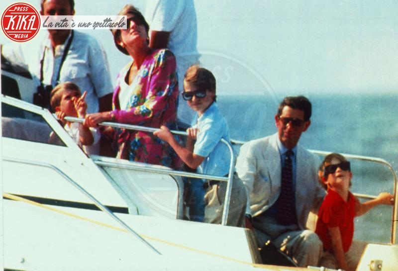 Principe Carlo d'Inghilterra, Principe William, Lady Diana, Principe Harry - Naples - 07-08-1991 - Harry: