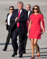Melania Trump, Donald Trump - West Palm Beach - 03-02-2017 - Melania Trump, uragano (di proteste) per il tacco 12