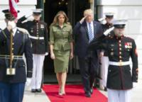 Melania Trump, Donald Trump - Washington - 27-04-2017 - Melania Trump, uragano (di proteste) per il tacco 12