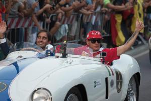Kimi Raikkonen - Milano - 31-08-2017 - I piloti di F1 si sono messi alla guida... delle auto d'epoca