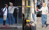 Kingston Rossdale, Gwen Stefani - Los Angeles - 31-08-2017 - Gwen Stefani in versione mamma attende lo scuolabus del figlio