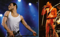 Freddie Mercury, Rami Malek - Los Angeles - 05-09-2017 - Bohemian Rapsody: Rami Malek a torso nudo sul palco