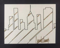 Trump Skyline Painting - New York - 07-09-2017 - All'asta un disegno minimalista di Donald Trump