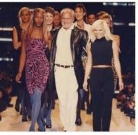 Gianni Versace, Donatella Versace, Naomi Campbell - Milano Fashion Week: Versace in passerella con le icone anni 90