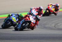 Marc Marquez, Andrea Dovizioso, Jorge Lorenzo, Valentino Rossi - Aragona - 24-09-2017 - Aragona: Marc Marquez vince e mette l'ipoteca sul titolo