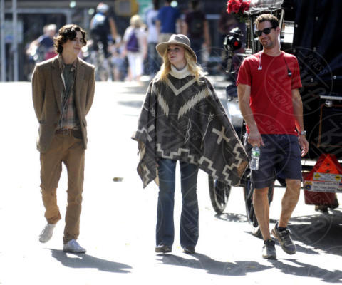 timothy chalamet, Elle Fanning - New York - 26-09-2017 - Woody Allen, le prime immagini sul set del nuovo film