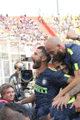 Antonio Candreva, Borja Valero, Mauro Icardi - Sant'Agata De' Goti - 01-10-2017 - Benevento-Inter: super Brozovic lancia i nerazzurri