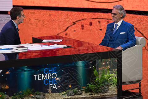 Fabio Fazio, Andrea Bocelli - Milano - 01-10-2017 - Che Tempo che Fa nel segno di Andrea Bocelli e Bebe Vio