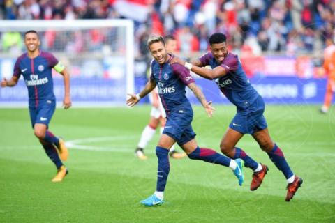Presnel Kimpembe of PSG, 3, 10, Neymar - Parigi - 30-09-2017 - Champions League: c'è la sfida tra Neymar e Cristiano Ronaldo