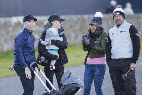 Cooper Keating, Storm Keating, Ronan Keating - St Andrews - 05-10-2017 - Ronan Keating, il figlio Cooper da grande sarà un golfista