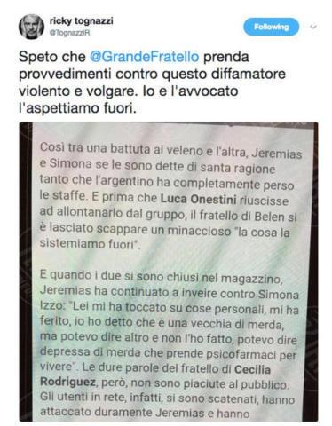 Ricky Tognazzi - 07-10-2017 - GFVip: un altro inquilino potrebbe essere squalificato!