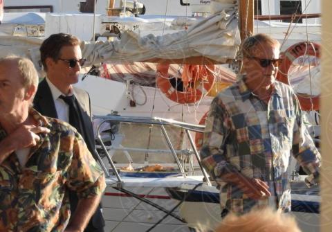 Stellan Skarsgard, Colin Firth - Lissa - 07-10-2017 - Mamma Mia Colin Firth! L'attore arriva in Croazia per le riprese