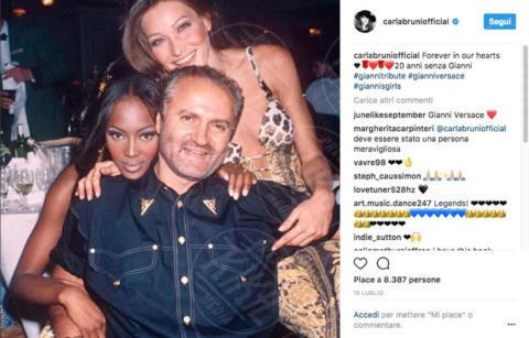 Gianni Versace, Carla Bruni, Naomi Campbell - 13-10-2017 - Carla Bruni: