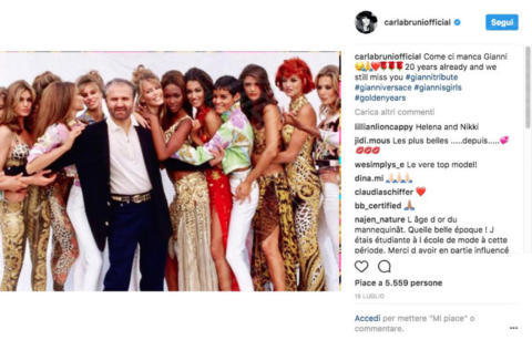 Gianni Versace, Carla Bruni - 13-10-2017 - Carla Bruni: