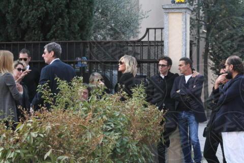 Funerali Franchino Tuzio, Paola Barale - Milano - 17-10-2017 - Le star italiane danno l'estremo saluto a Franchino Tuzio