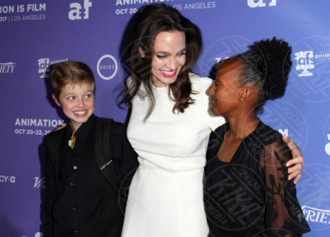 Shiloh Jolie-Pitt, Zahara Jolie-Pitt, Angelina Jolie - Los Angeles - 20-10-2017 - Angelina Jolie: