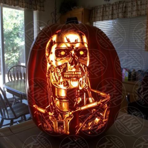 Alex Wer, Terminator - 20-10-2017 - Alex Wer, il mago delle zucche intagliate di Halloween!