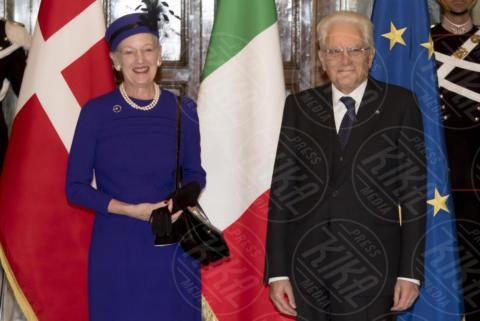 Sergio Mattarella, Regina Margherita di Danimarca - Roma - 27-10-2017 - Margherita II di Danimarca a Roma incontra Sergio Mattarella
