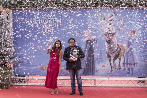 Serena Rossi, Enrico Brignano - Roma - 29-10-2017 - Festa del Cinema: il red carpet di Brignano e Serena Rossi