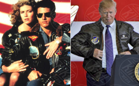 Donald Trump, Tom Cruise - 05-11-2017 - Tom Cruise in Top Gun? No, è Donald Trump!
