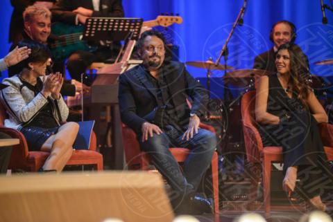 Flora Canto, Enrico Brignano - Roma - 08-11-2017 - Maurizio Costanzo Show: Ventura-Bettarini, di nuovo famiglia
