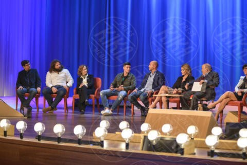 Giuliana Lojodice, Martin Castrogiovanni, Richy Memphis - Roma - 08-11-2017 - Maurizio Costanzo Show: Ventura-Bettarini, di nuovo famiglia
