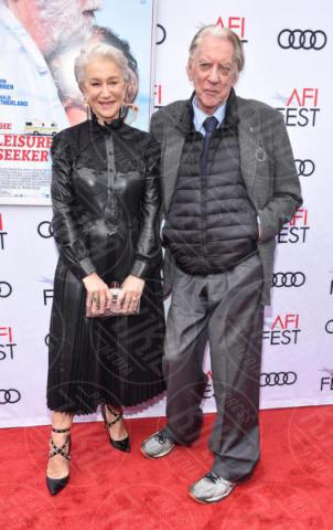 Donald Sutherland, Helen Mirren - Hollywood - 12-11-2017 - Helen Mirren, una dama in pelle nera per Ella & John