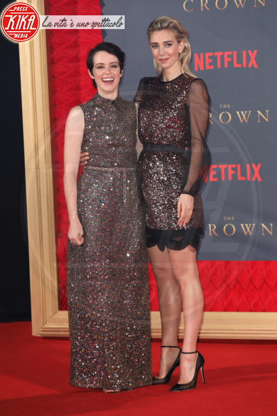 Claire Foy, Vanessa Kirby - Londra - 21-11-2017 - The Crown 2, Claire Foy regina di paillettes