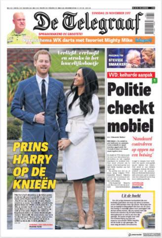 De Telegraaf, Netherlands - 28-11-2017 - Harry e Meghan Markle: a maggio si sposeranno qui