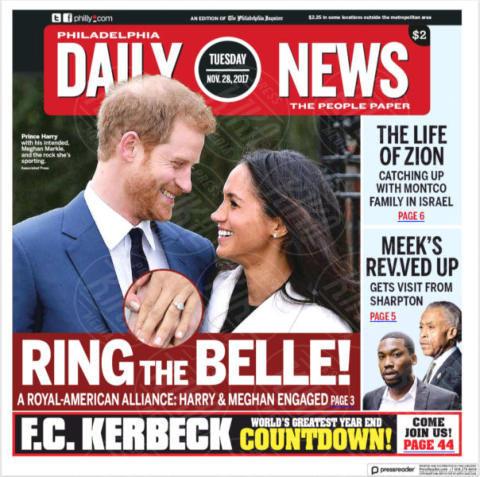 Daily News, United States, Philadelphia - 28-11-2017 - Harry e Meghan Markle: a maggio si sposeranno qui