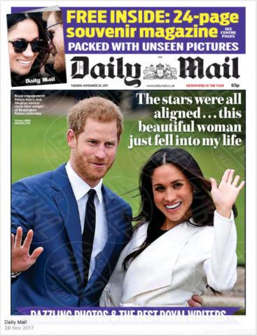 United Kingdom, Daily Mail - 28-11-2017 - Harry e Meghan Markle: a maggio si sposeranno qui