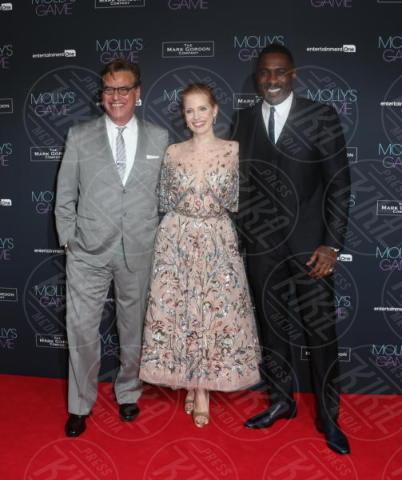 Jessica Chastain, Idris Elba, Aaron Sorkin - Londra - 06-12-2017 - Jessica Chastain e Idris Elba si danno al poker clandestino