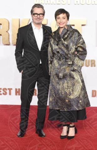 Kristin Scott Thomas, Gary Oldman - Londra - 11-12-2017 - Gary Oldman presenta L'ora più Buia: vincerà il Golden Globe?