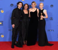 Timothée Chalamet, Greta Gerwig, Saoirse Ronan, Laurie Metcalf - Beverly Hills - 07-01-2018 - Golden Globe 2018: trionfa Tre Manifesti a Ebbing, Missouri