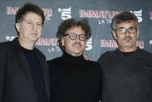 Daniele Cesarano, Marco Belardi, Paolo Genovese - Milano - 10-01-2018 - Dal cinema alla tv: arriva su Canale 5 Immaturi - La serie