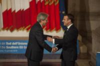 Emmanuel Macron, Paolo Gentiloni - Roma - 10-01-2018 - Il Sud Europa unito a favore dei migranti