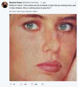 Ylenia Carrisi - 12-01-2018 - Romina Power, il disperato appello per Ylenia